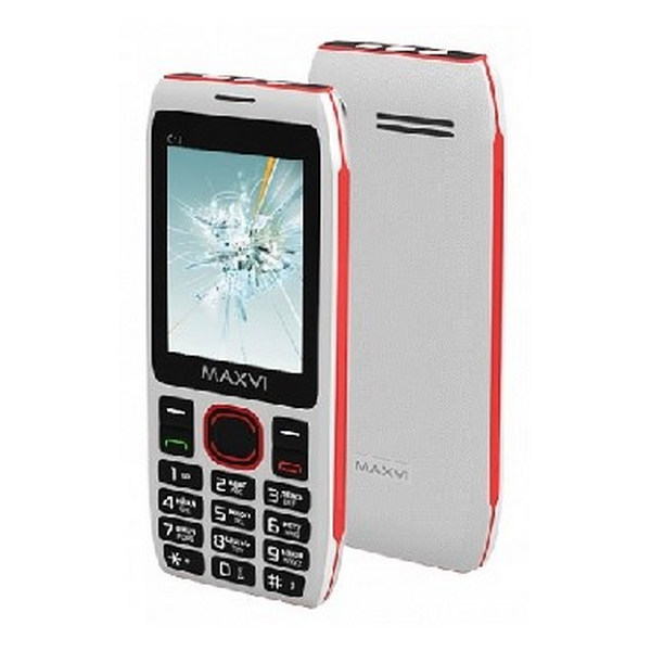 Мобильный телефон MAXVI C17 White-Red 1