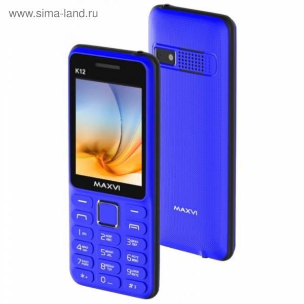 Мобильный телефон MAXVI K12 blue-black 1