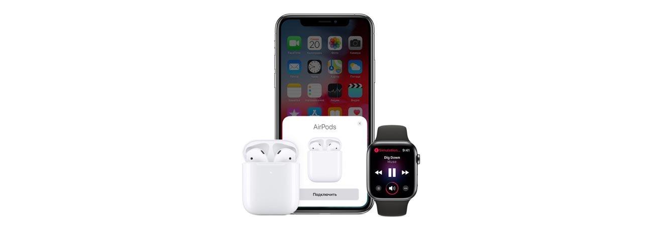 Беспроводные наушники Apple AirPods 2019 (2 поколения) with Wireless Charging Case 5