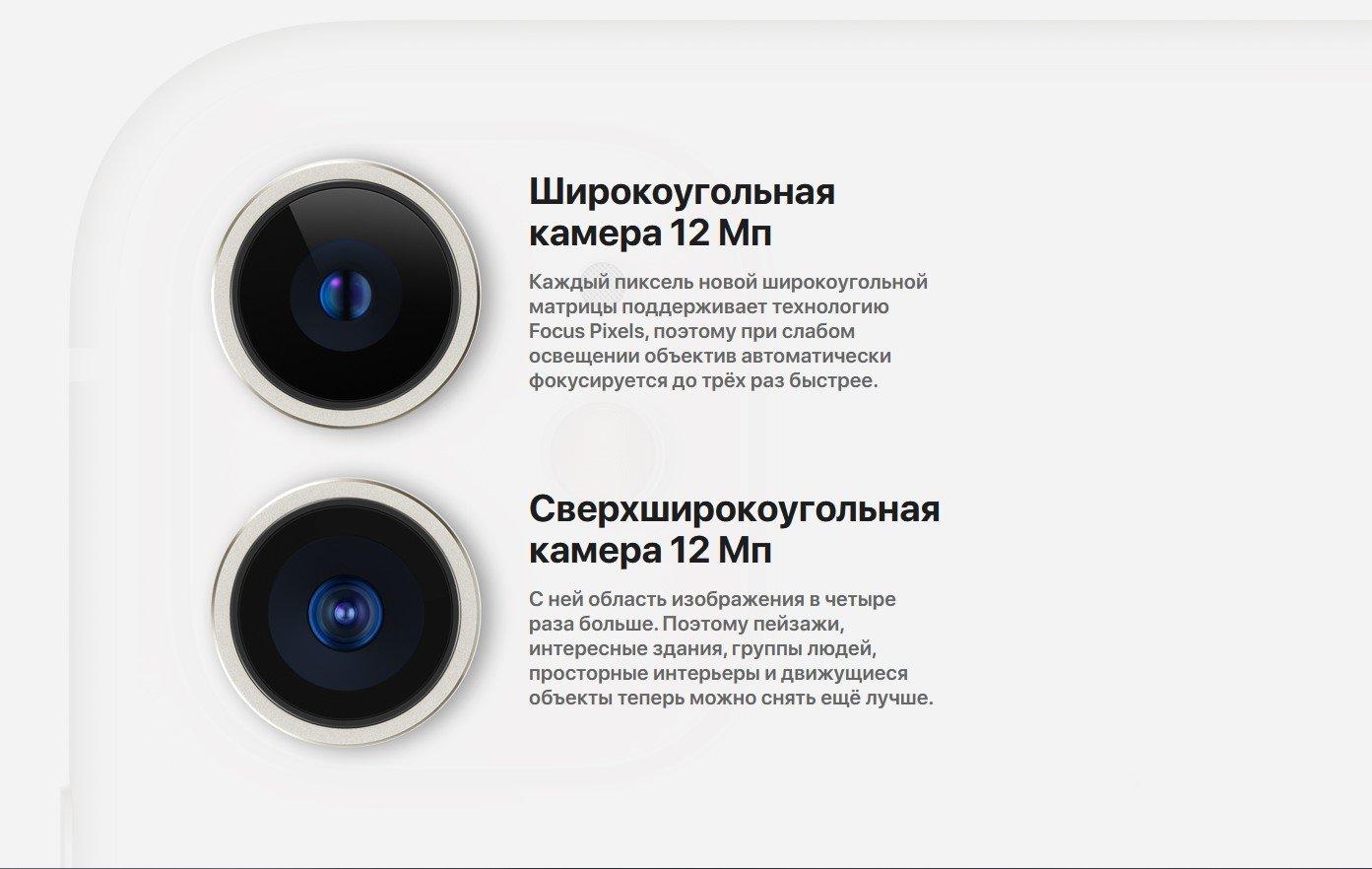 Фото Смартфон Apple iPhone 11 64Gb Black - 7