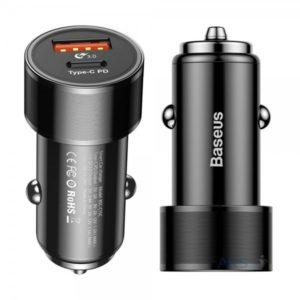 Автомобильное зарядное устройство Baseus CAXLD-C01 Black