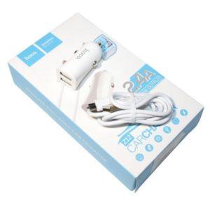 Автомобильное зарядное устройство Hoco Z12 (Micro) (white)