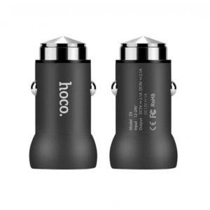 Автомобильное зарядное устройство HOCO Z4 QC2.0 (Black)