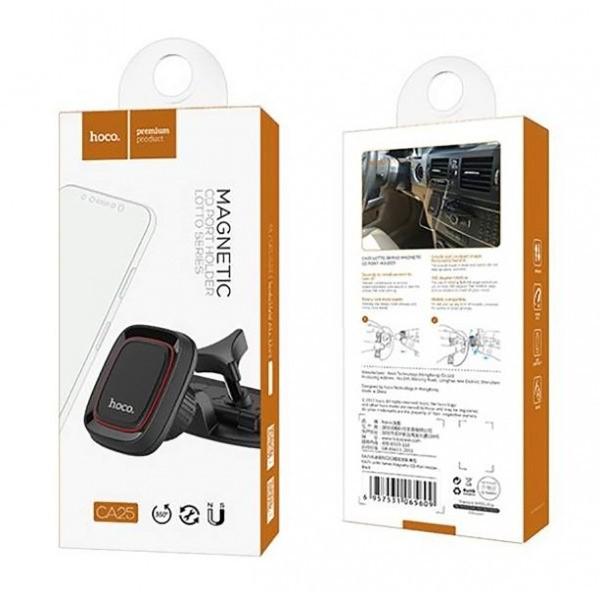 Автомобильный держатель HOCO CA25 Lotto Series Magnetic CD Port Holder (Black)
