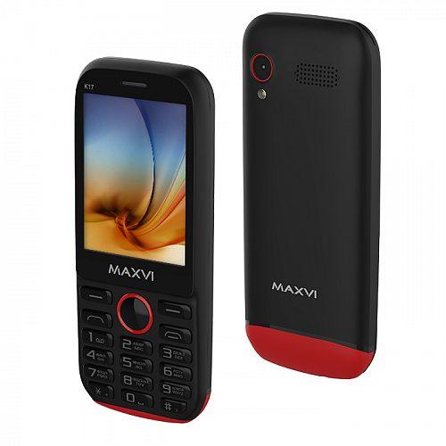 Мобильный телефон MAXVI K17 Black-Red 1