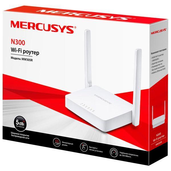 Маршрутизатор Mercusys MW305R; 300 Мбит/сек 1