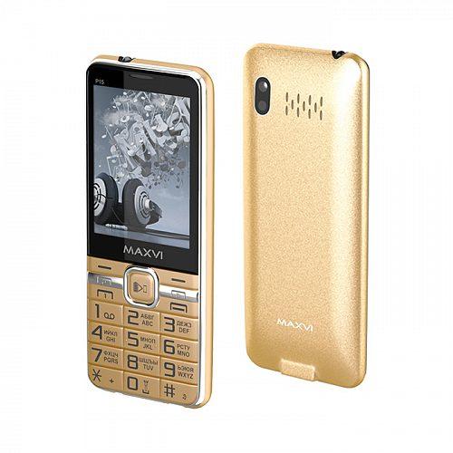 Мобильный телефон MAXVI P15 (gold) 1