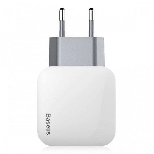 Сетевой адаптер Baseus Letour Dual U Charger (EU) 2.1A (White) CCALL-E2A02