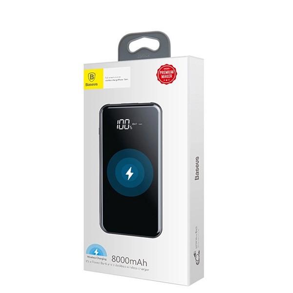 Внешний аккумулятор Baseus Full Screen Bracket Wireless 8000mAh (Black) PPALL-EX01