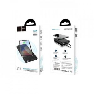 Внешний аккумулятор с беспроводной зарядкой HOCO J37 10000 mAh Wisdom wireless charging Black