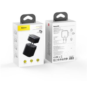 Зарядное устройство Baseus Removable 2in1 universal travel adapter PPS (Quick Charger Edition Black)