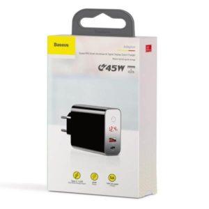 Зарядное устройство Baseus Speed PPS Intelligent Power-off PD3.0+QC3 45W EU Black CCFSEU907-01