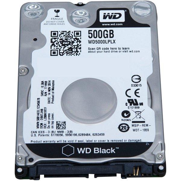 """Жесткий диск 2.5"""" 500Гб WD Black (WD5000LPLX) 1"""