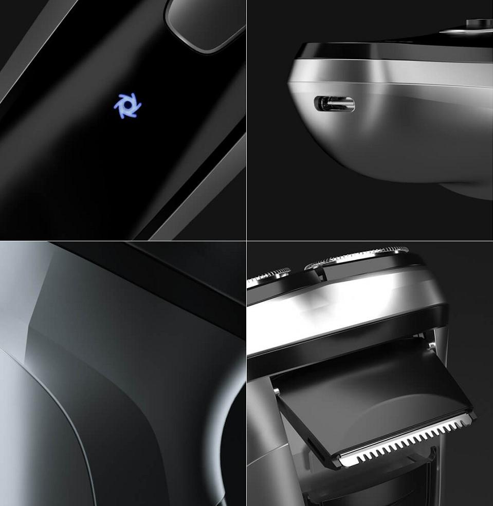 Электробритва Enchen BlackStone 3D боковое лезвие