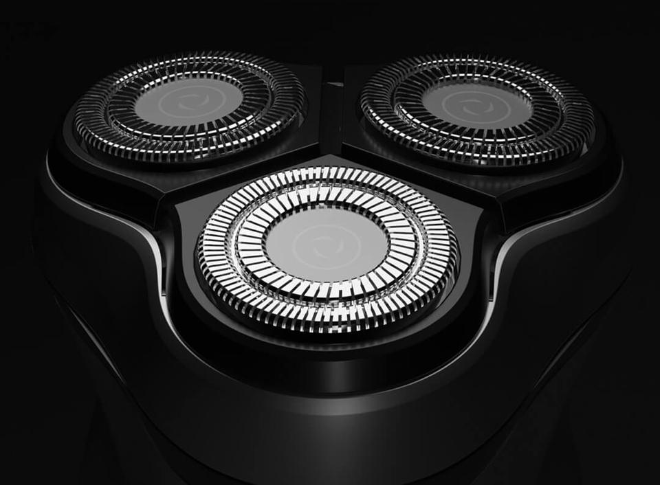 Электробритва Enchen BlackStone 3D головки крупным планом