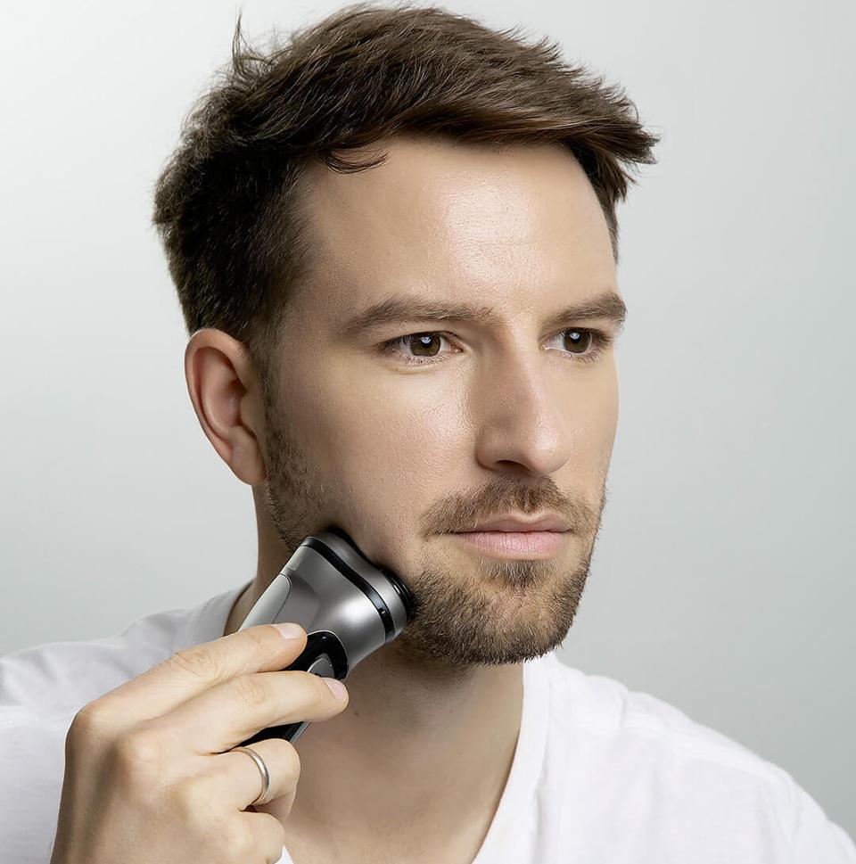 Электробритва Enchen BlackStone 3D процесс бритья
