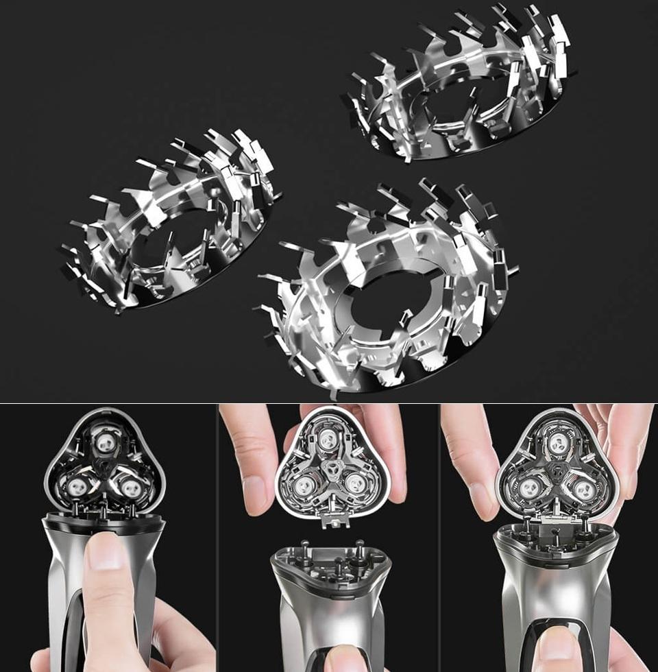 Электробритва Enchen BlackStone 3D лезвия