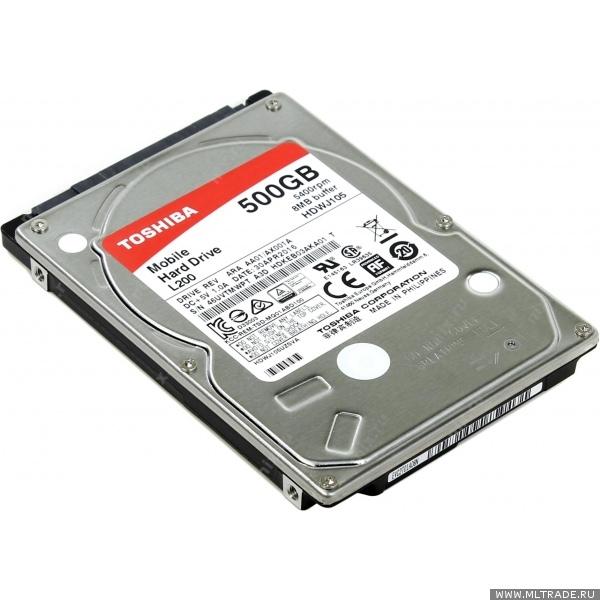 "Жесткий диск 2.5"" 500Гб Toshiba L200 (HDWJ105UZSVA) 1"