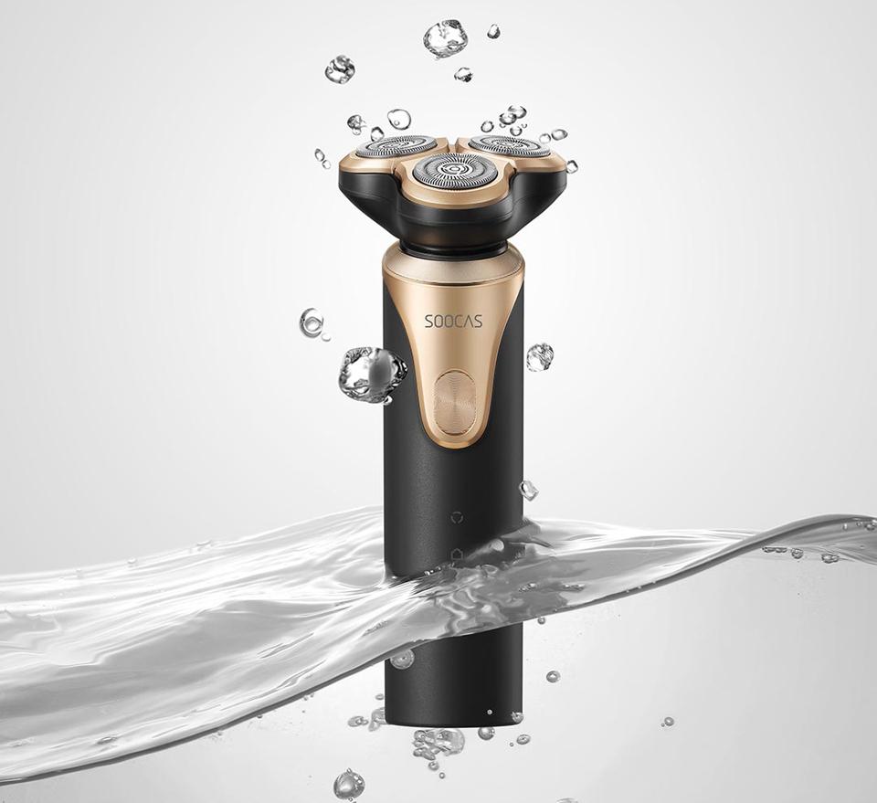 Электробритва SOOCAS Electric Shaver S3 водостойкость