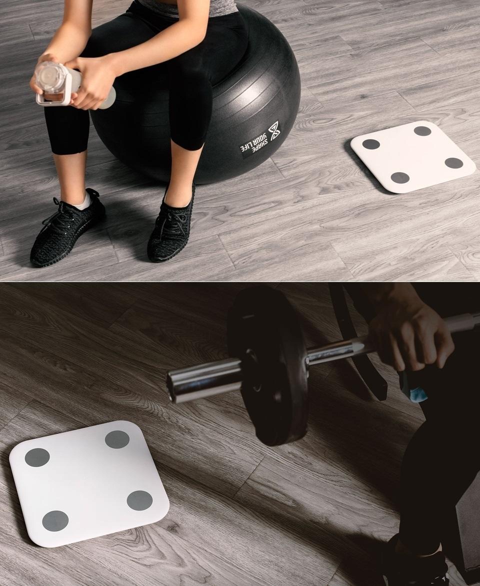 Весы Xiaomi Smart Scale 2 занятие спортом