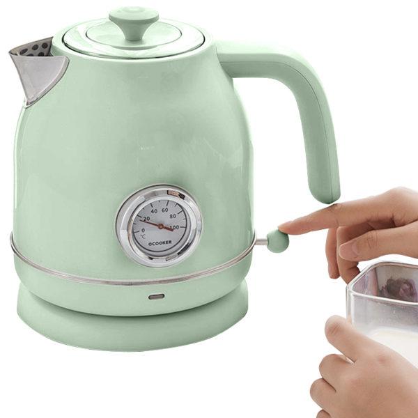 Чайник с Датчиком Температуры Xiaomi Ocooker retro electric kettle Green 1