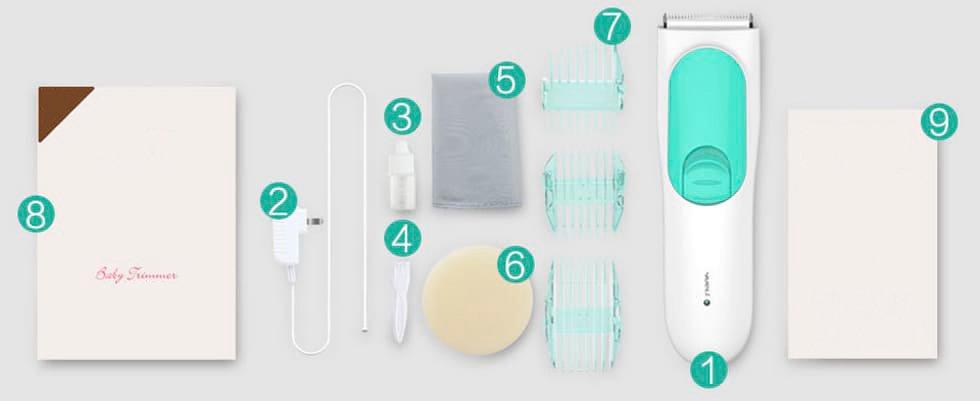 Машинка для стрижки детей Xiaomi SMATE Children Hairdresser Blue 8
