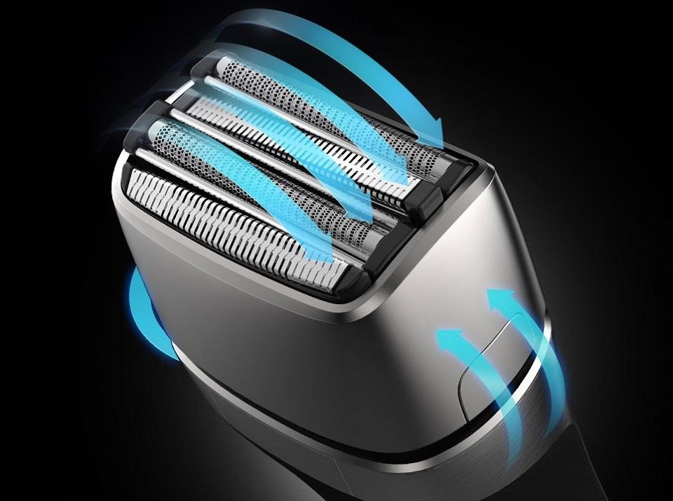 Электробритва SMATE Four-blade shaver Black ST-W481 лезвия двигаются по разным направлениям