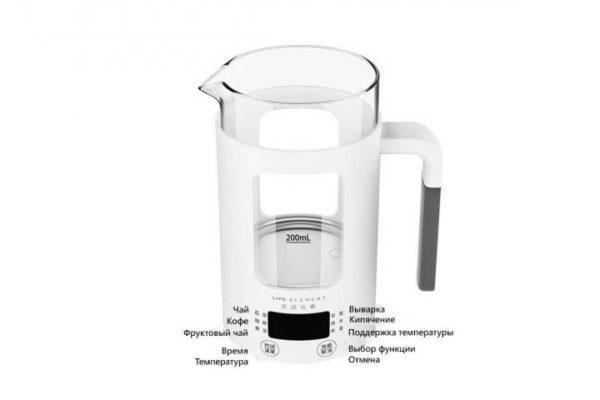 Электрический чайник Mi Life Element 0.6l White (I13) 2