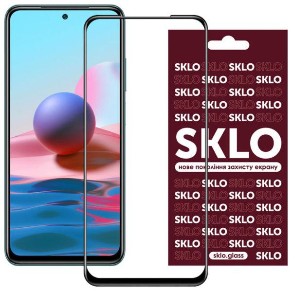 Защитное стекло SKLO 3D (full glue) для Xiaomi Redmi Note 10 / Note 10s 1
